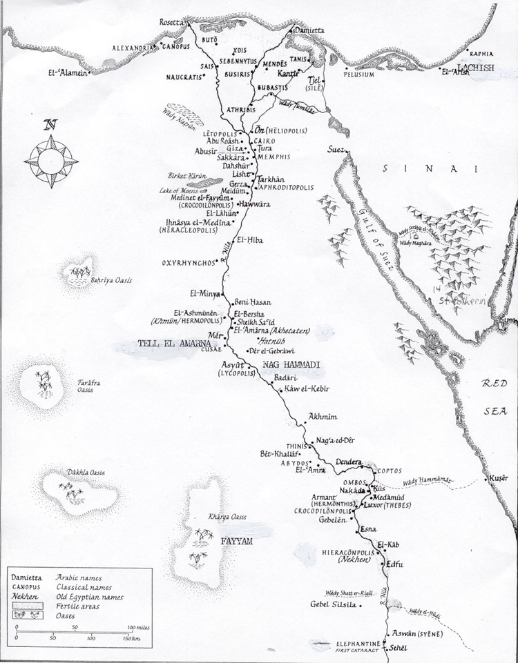 Map of the towns on the Nile River (Map) - Ancient Mormon ...